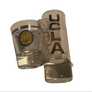 2 UCLA Shot Glasses College Drinking Adult Cups